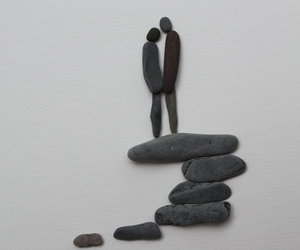 art, couple, and stone image