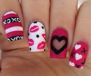 nails, xoxo, and pink image
