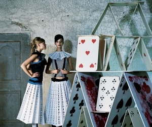 cards, alice in wonderland, and girl image