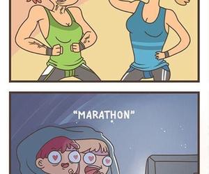 Marathon, funny, and friends image