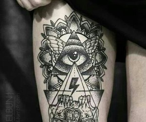 tattoo, eye, and ink image