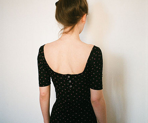 back, dress, and fashion image