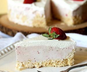 ice cream, pie, and rice krispies image