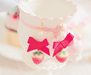 earrings, tumblr, and pink image