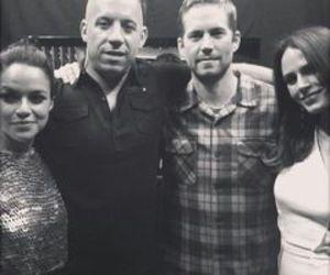 michelle rodriguez, paul walker, and Vin Diesel image
