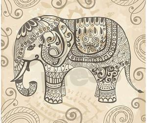 elephant, animal, and drawing image