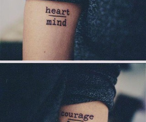 tattoo, heart, and mind image