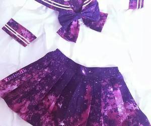 galaxy, kawaii, and uniform image