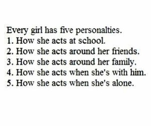 girl, friends, and personality image