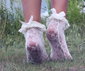 cute, lace, and feet image