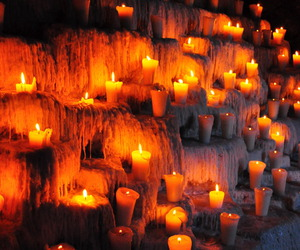 candles, cave, and decor image