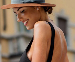 hat, smile, and dress image