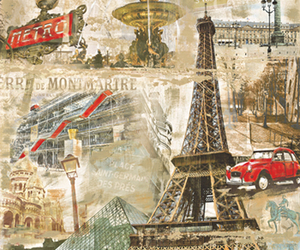 car, eiffel tower, and france image