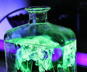 Halloween, neon, and potion image