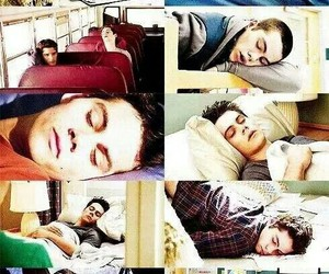 teen wolf, dylan o'brien, and sleep image