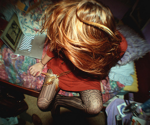 hair, girl, and tights image