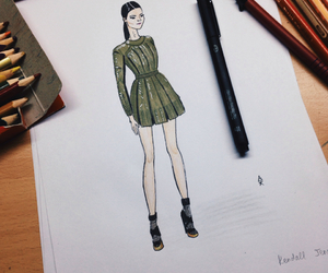 drawing, fashion, and kylie jenner image