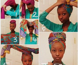 colorful and headwrap image