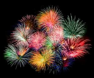 fireworks and pretty image