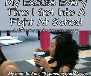 fight and school image