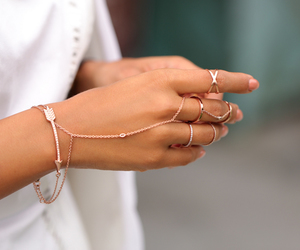 delicate, feminine, and rings image