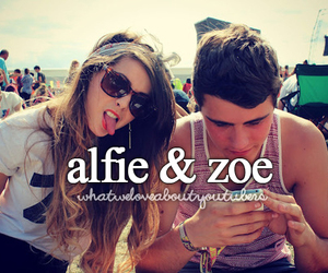 zoella, alfie, and zalfie image