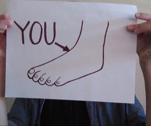 foot, funny, and insult image