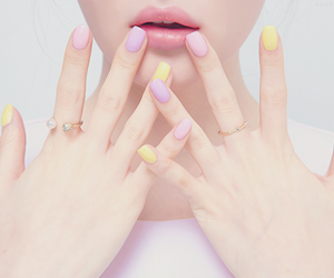 nails, pastel, and lips image