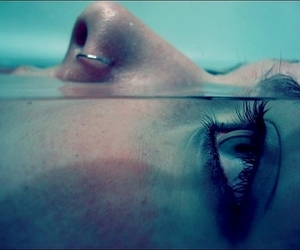 girl, water, and piercing image