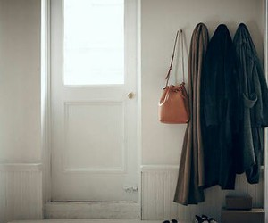 bag, clothes, and door image