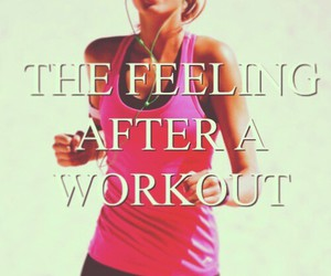workout, feeling, and fitness image