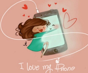 love, phone, and iphone image