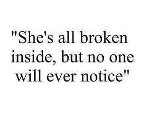 broken, quote, and inside image