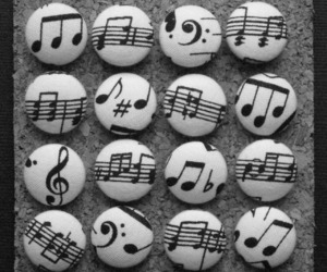 music, black and white, and cute image