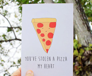 card, pizza, and cute image