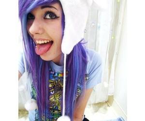 girl, purple, and hair image