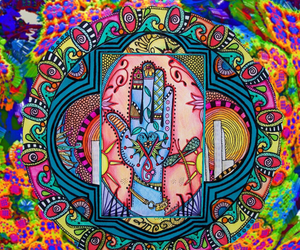 hippie, pattern, and peace image