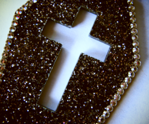 black, crystals, and sparkly image