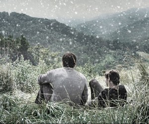 katniss everdeen, the hunger games, and gale hawthorne image