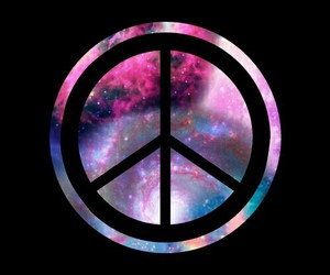 black, galaxy, and peace image