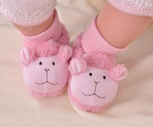 lovely, sheep soft shoes, and sole baby shoes image