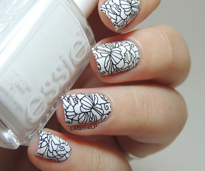 nails, girl, and essie image