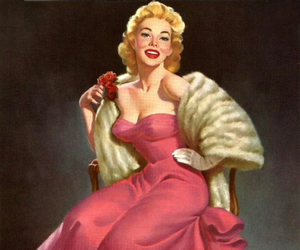 pinup, retro, and pulp image
