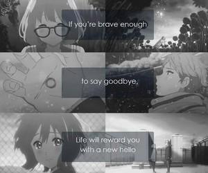 anime, kyoukai no kanata, and quote image