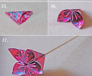 flor, origami, and papel image