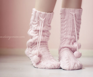 pink, socks, and sweet image
