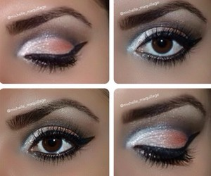 eyes, sparkle, and makeup image