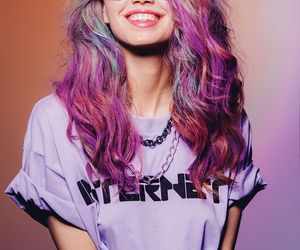 colorful, hair, and girl image