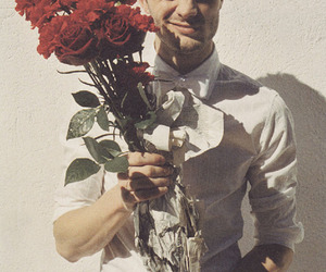 rose, boy, and flowers image