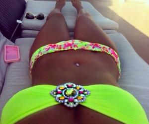 bikini, colors, and fashion image